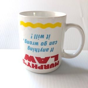 Murphy's Law Coffee Mug Vintage Hallmark 1988